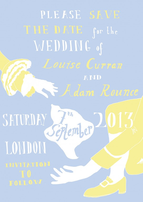Save the Date for Adam & Louise's Wedding
