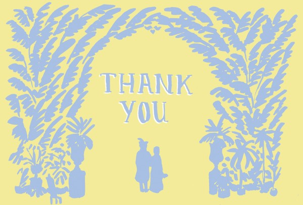 Thank You Card for Adam & Louise's Wedding
